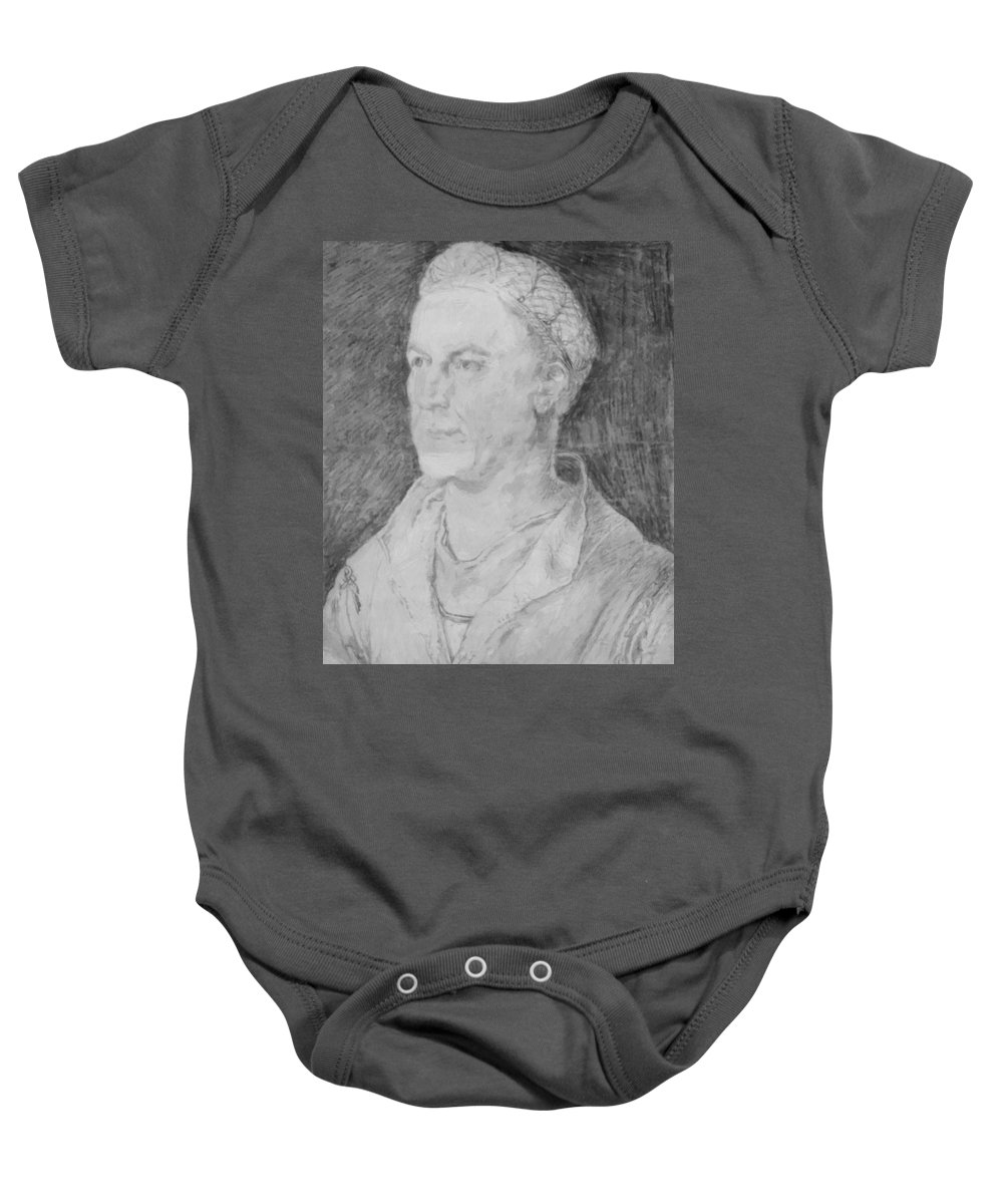 Portrait Baby Onesie featuring the painting Portrait Of Jakob Fugger by Durer Albrecht