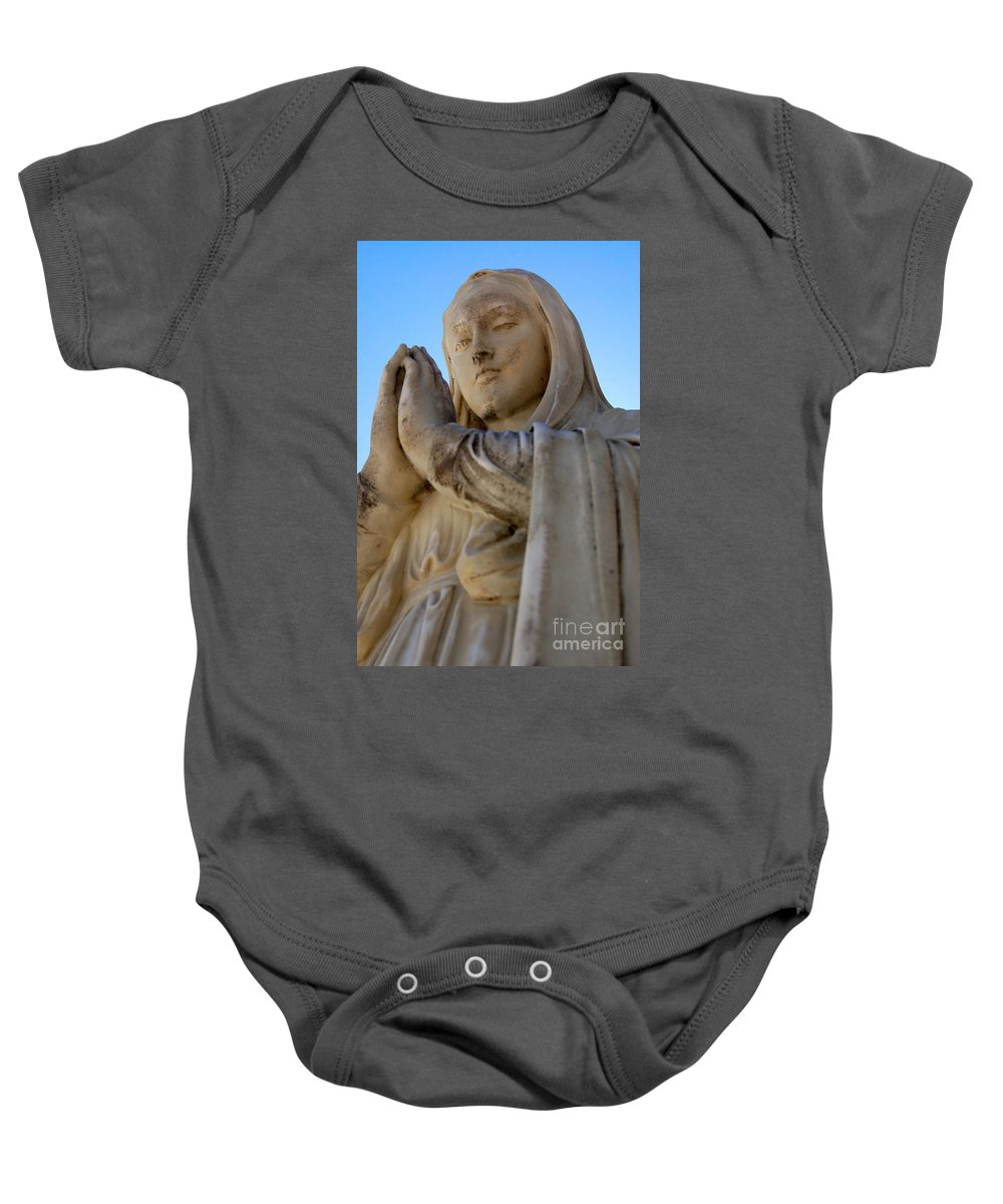 Mary Baby Onesie featuring the photograph Prayer by Joe Ng