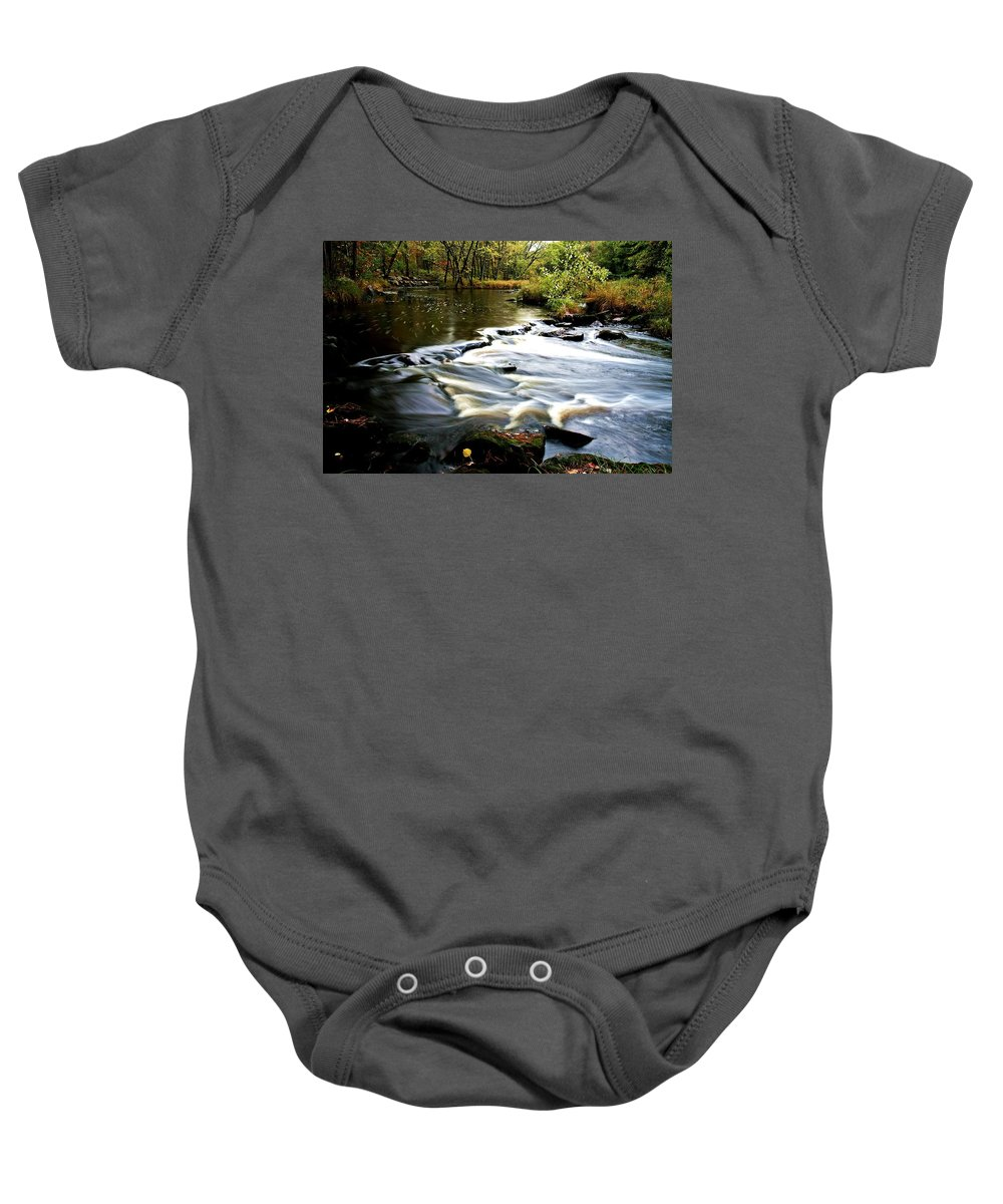 Creek Baby Onesie featuring the photograph Rocky Run 2 by Neal Nealis