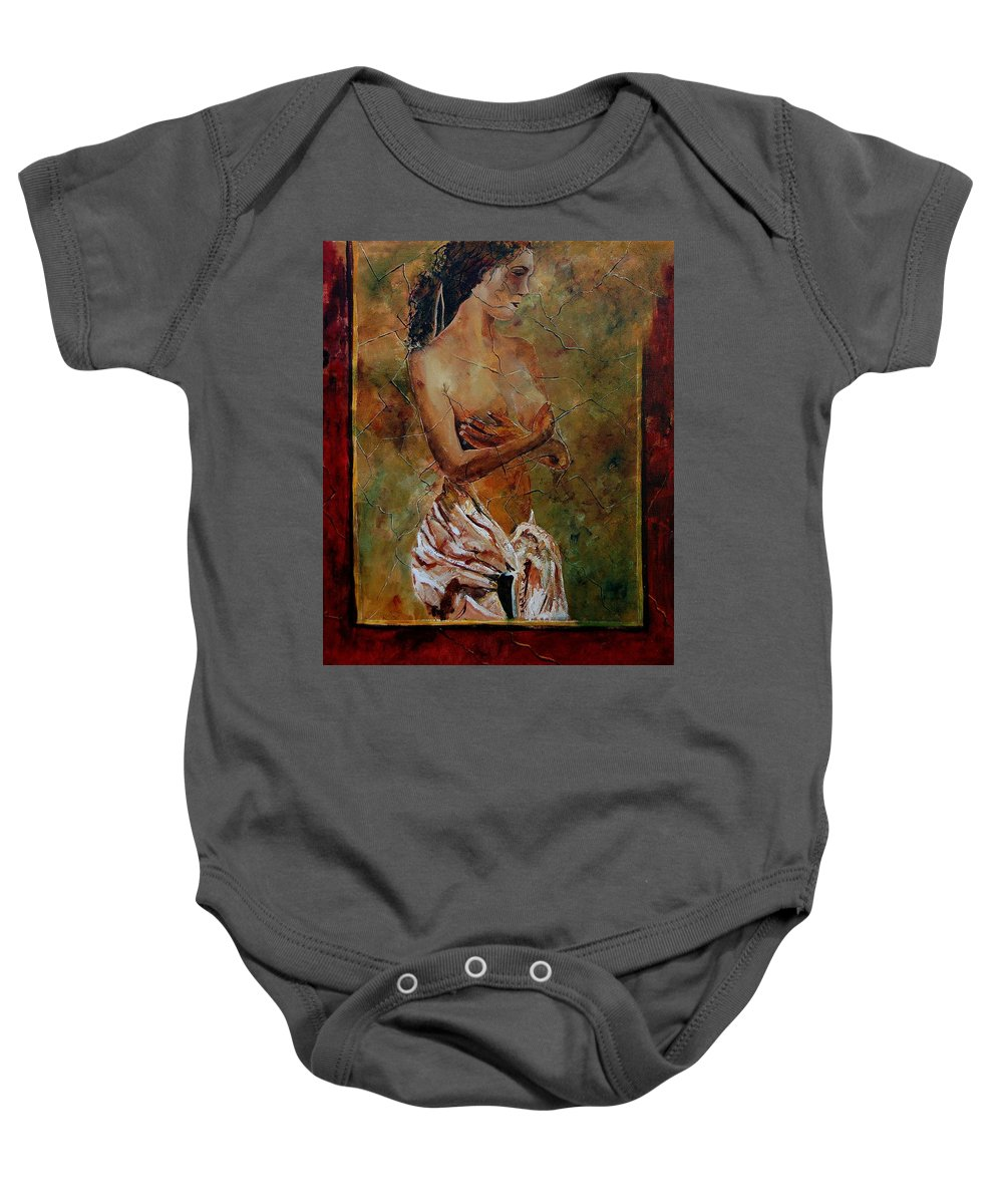 Nude Baby Onesie featuring the painting Roman Nude 67 by Pol Ledent