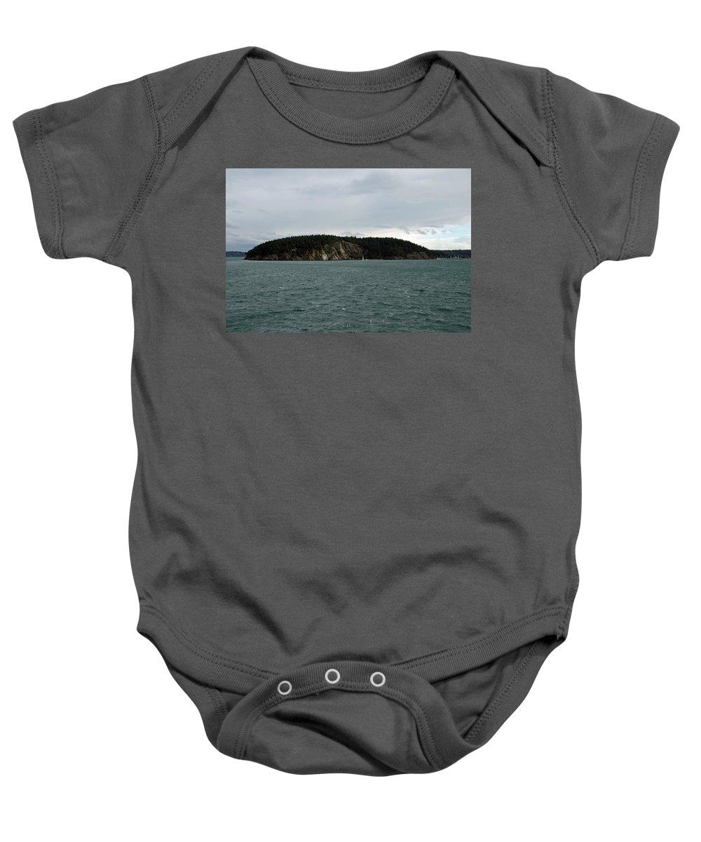 Landscape Baby Onesie featuring the photograph San Juan Islands by Carol Eliassen