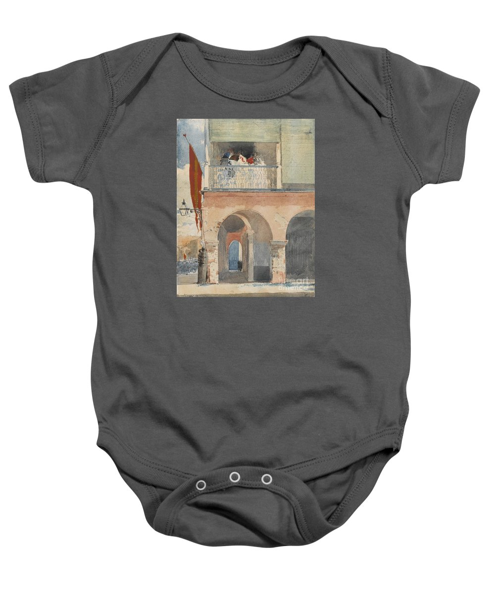 Winslow Homer 1836 - 1910 Customs House Baby Onesie featuring the painting Santiago De Cuba by MotionAge Designs