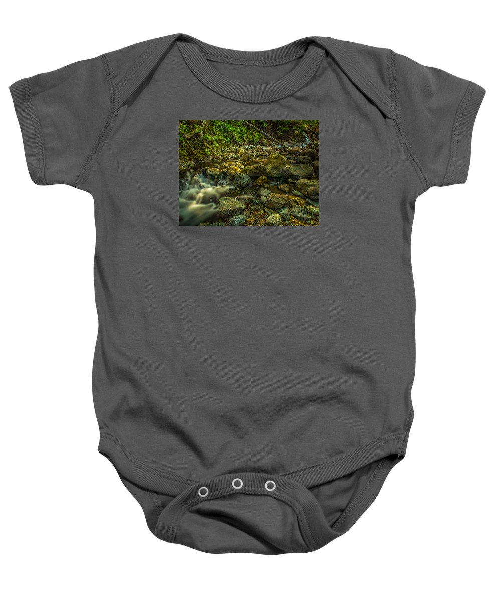 Shackleford Baby Onesie featuring the photograph Shackleford Falls by Michele James
