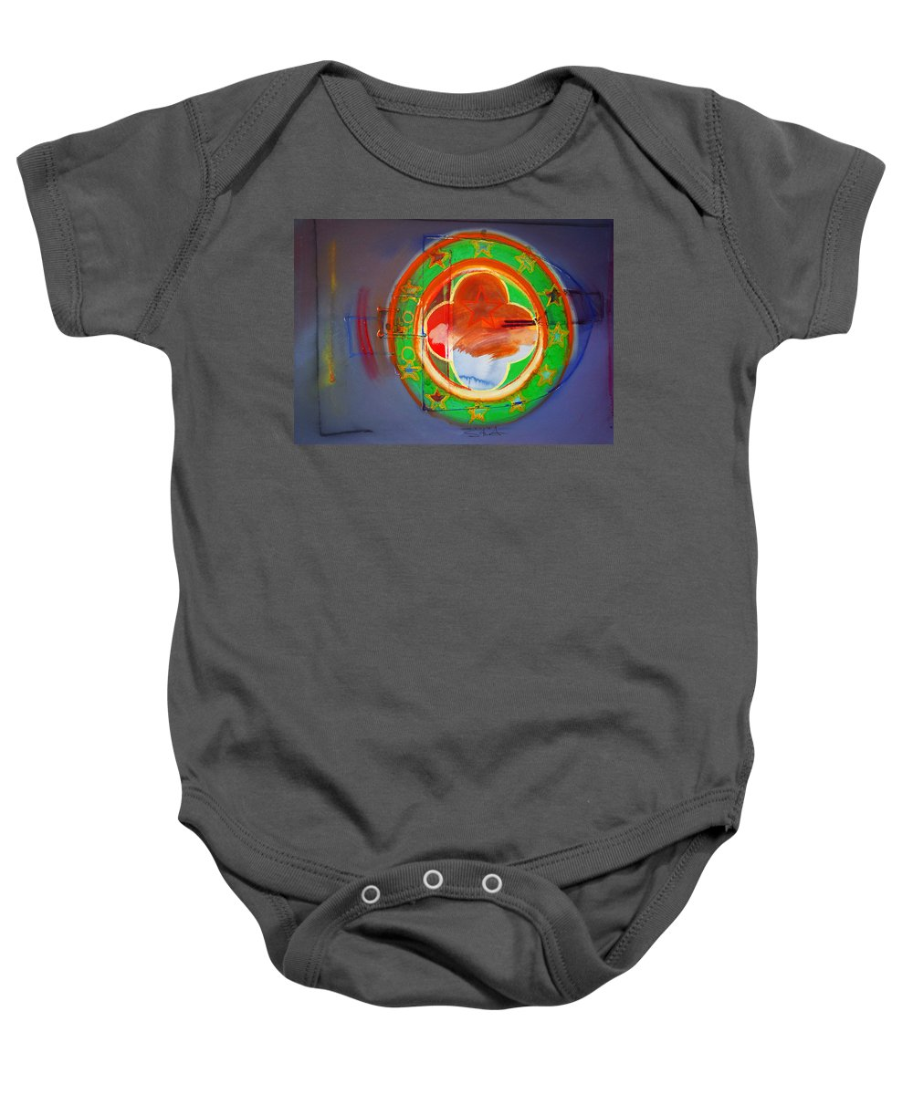 Symbol Baby Onesie featuring the painting Ship Of State by Charles Stuart