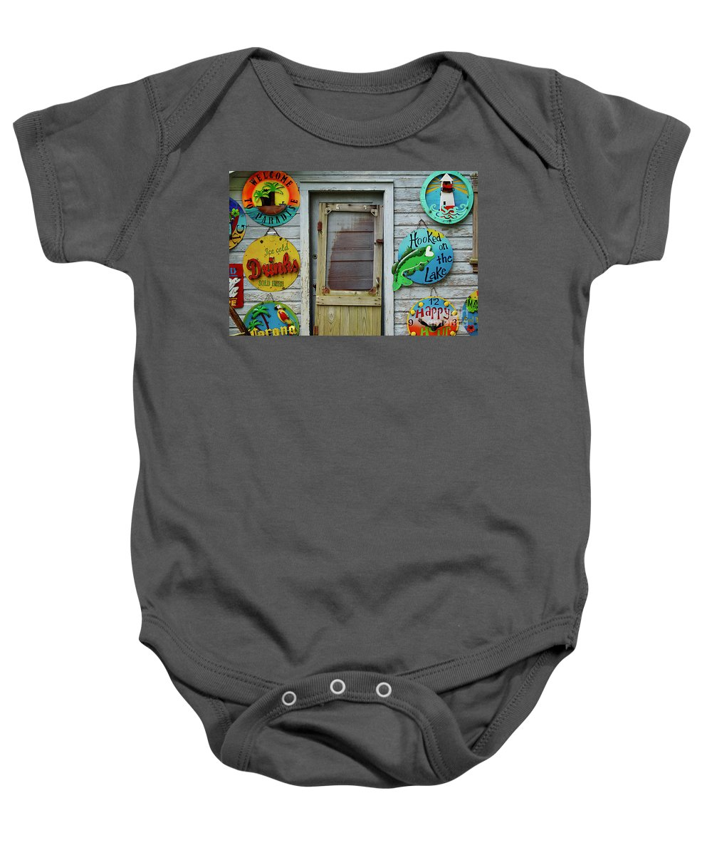 Door Baby Onesie featuring the photograph Signs Of Time by Randy Pollard