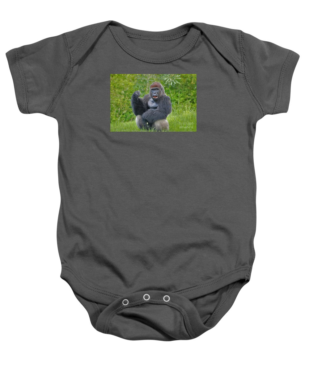 Silverback Baby Onesie featuring the photograph 1- Silverback Western Lowland Gorilla by Joseph Keane