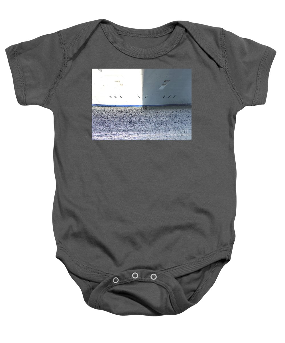 Ship Baby Onesie featuring the photograph Smooth Sailing by Carol Groenen