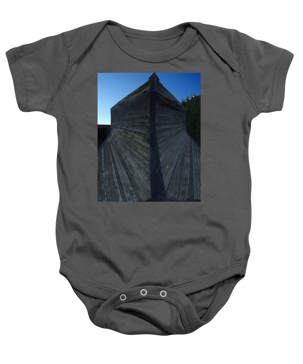 Train Baby Onesie featuring the photograph Snow Plow by Peter Piatt