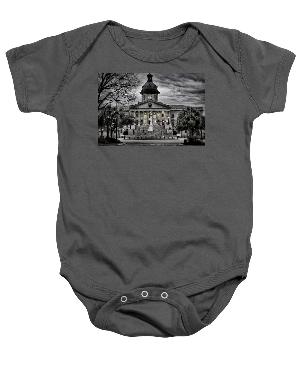 South Baby Onesie featuring the photograph South Carolina State House by Bruce Willhoit
