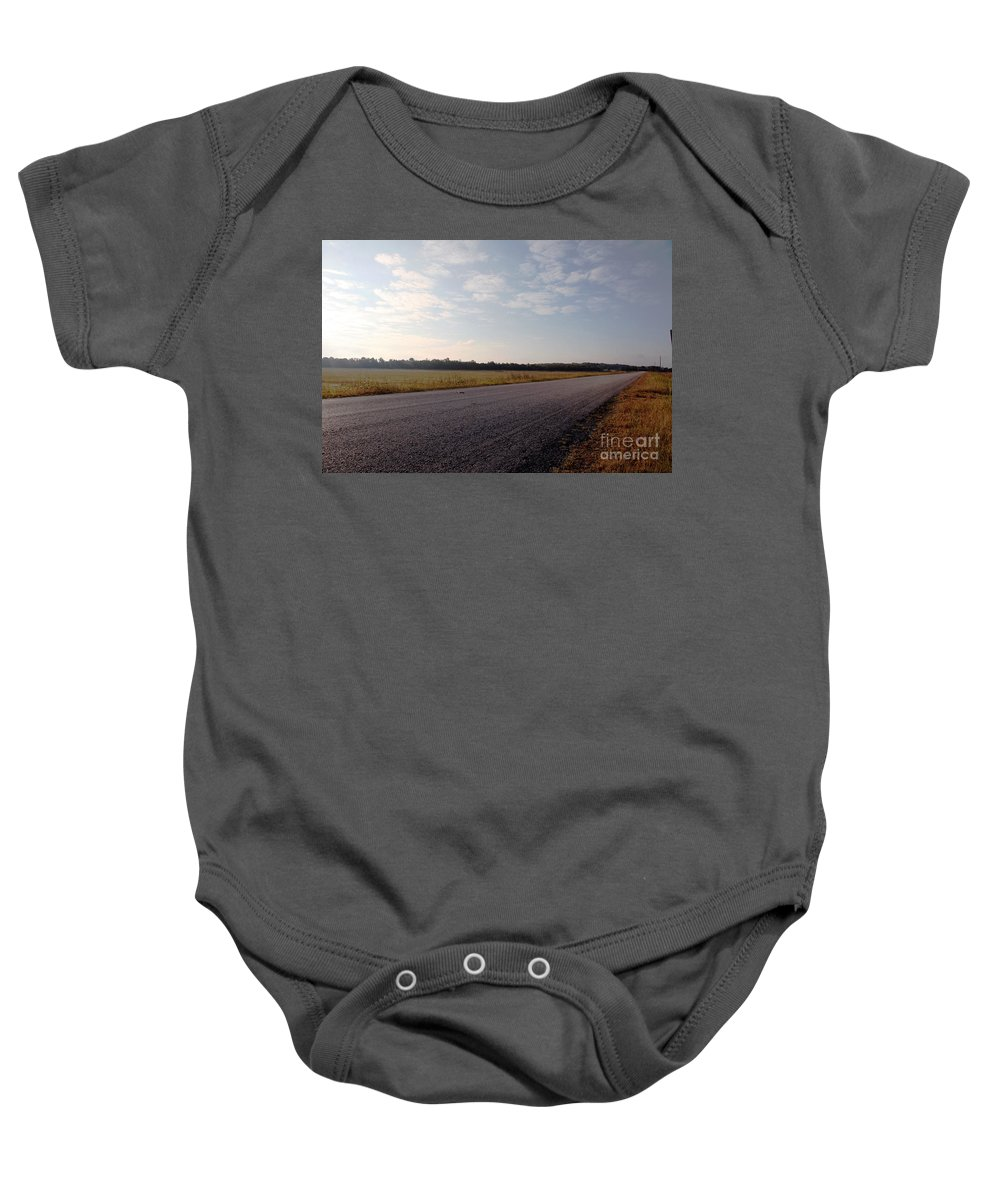 Streets Baby Onesie featuring the photograph Sunday Drive by Amanda Barcon