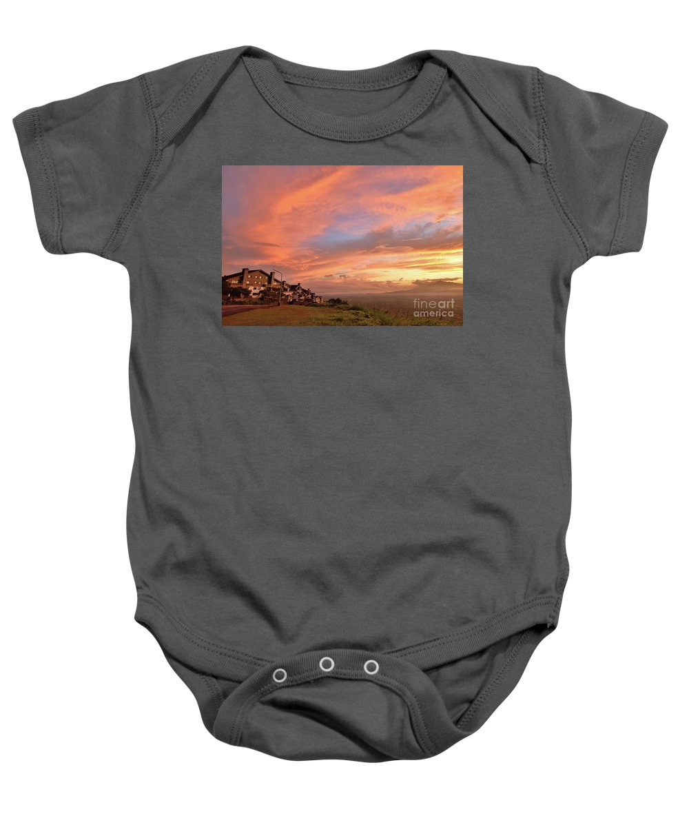 Tagaytay Baby Onesie featuring the photograph Sunrise At Tagaytay Highland by Yinguo Huang