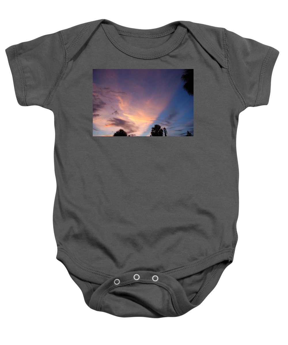 Sunset Baby Onesie featuring the photograph Sunset At Pine Tree by Rob Hans