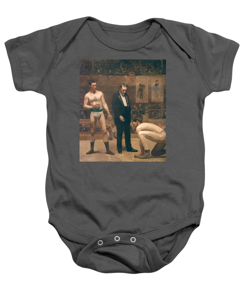 Painting Baby Onesie featuring the painting Taking The Count by Mountain Dreams