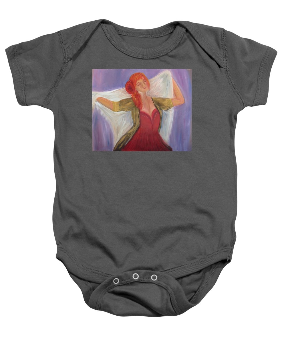 Dance Baby Onesie featuring the painting The Dancer by Taly Bar