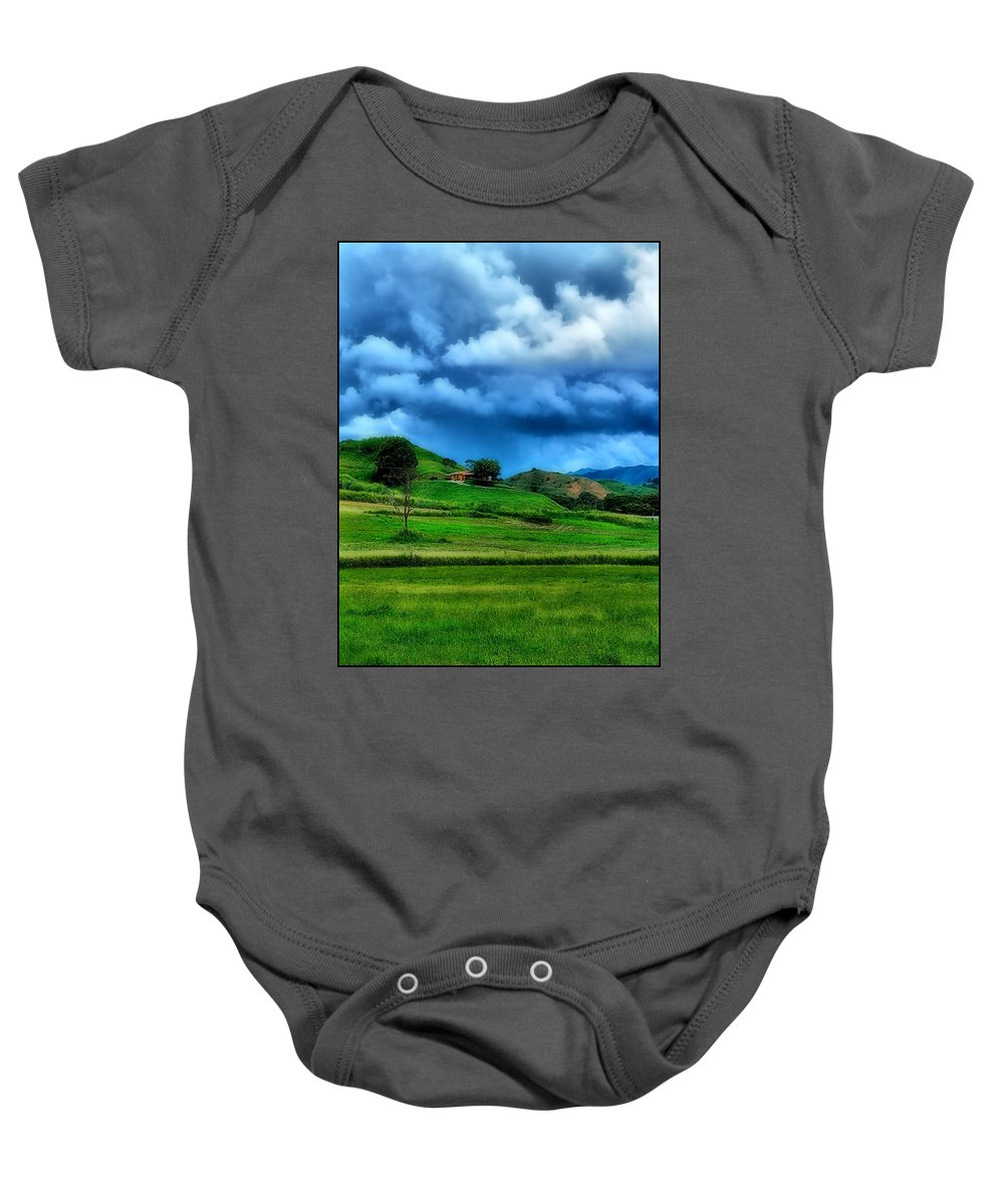 Baby Onesie featuring the photograph The Little House On The Prairie by Galeria Trompiz