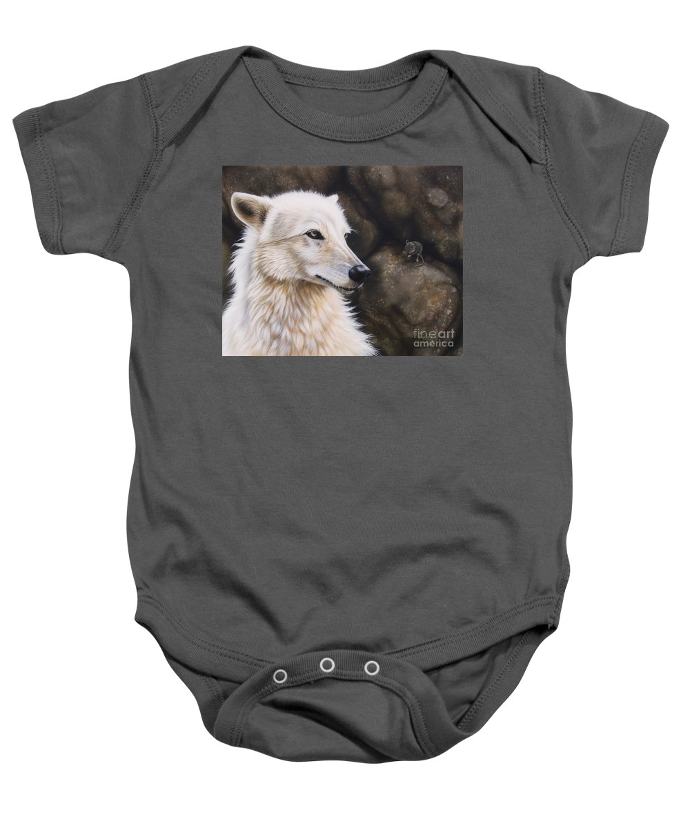 Acrylic Baby Onesie featuring the painting The Mouse by Sandi Baker