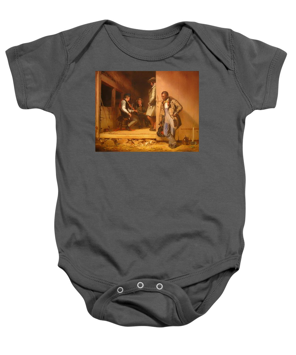 Painting Baby Onesie featuring the painting The Power Of Music by Mountain Dreams