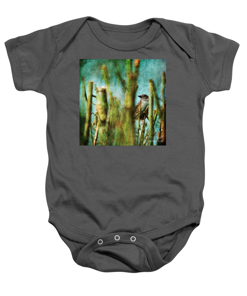 Thrush Baby Onesie featuring the photograph The Thrush by Angel Ciesniarska