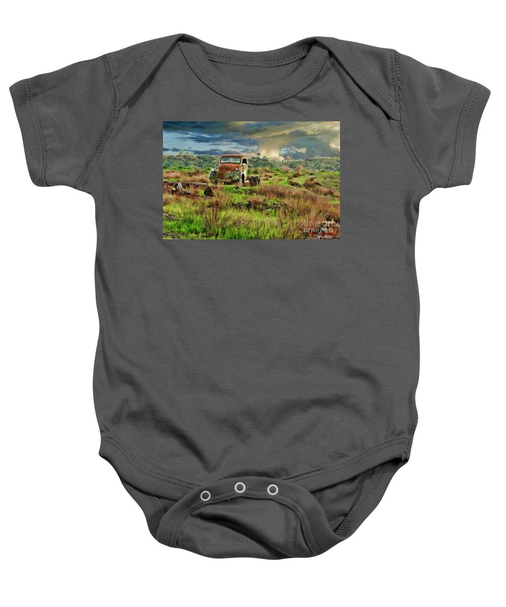 Art Photography Baby Onesie featuring the photograph Tornado Truck by Blake Richards