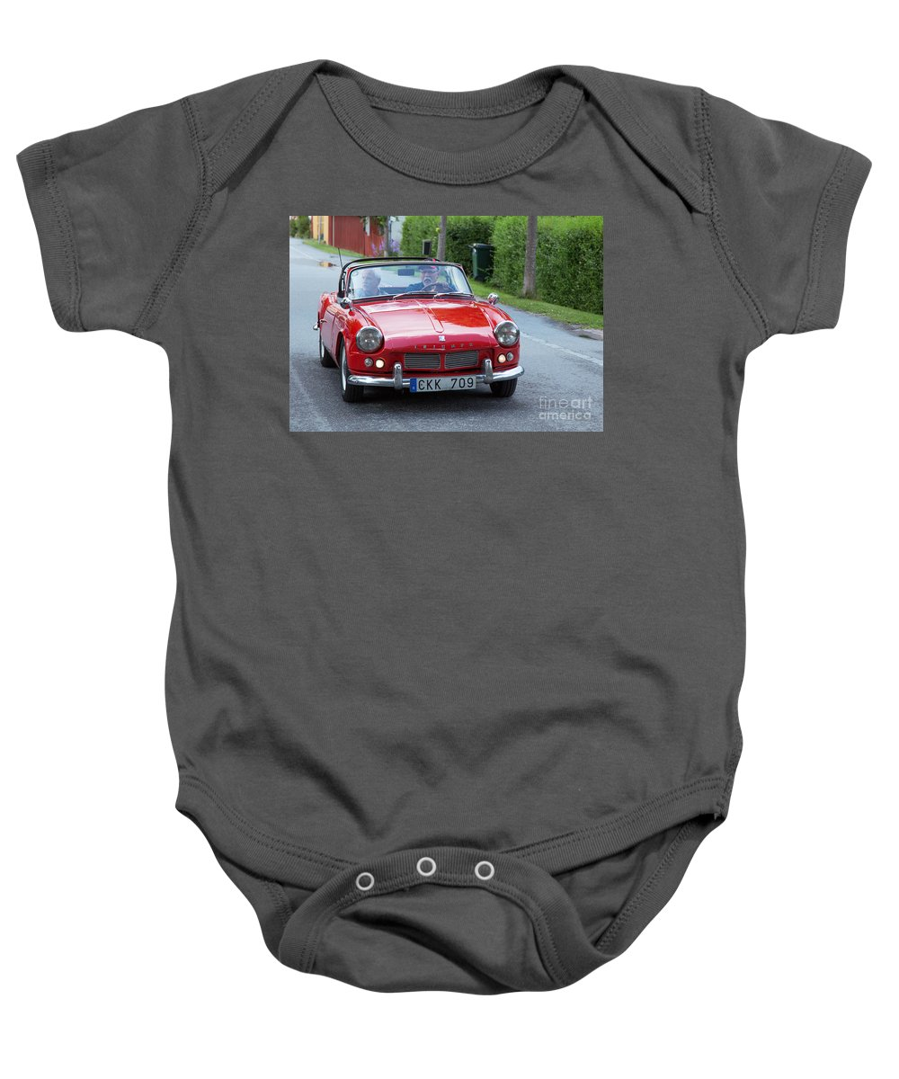 Triumph Spitfire 4 Baby Onesie featuring the photograph Triumph Spitfire 4 by Allan Wallberg