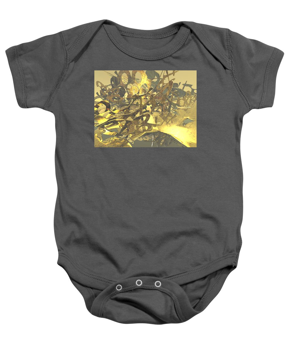 Scott Piers Baby Onesie featuring the painting Urban Gold by Scott Piers