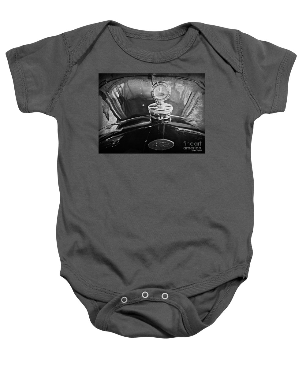 Ford Baby Onesie featuring the photograph Vintage Ford Art by Bobbee Rickard