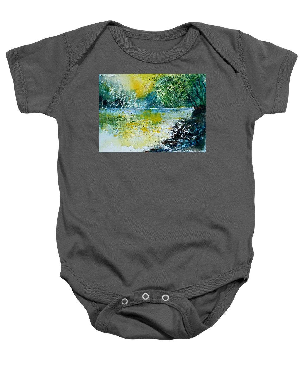 Water Baby Onesie featuring the painting Watercolor 051108 by Pol Ledent