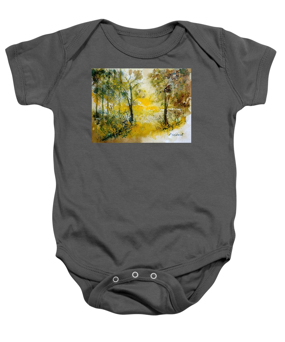 Tree Baby Onesie featuring the painting Watercolor 210108 by Pol Ledent