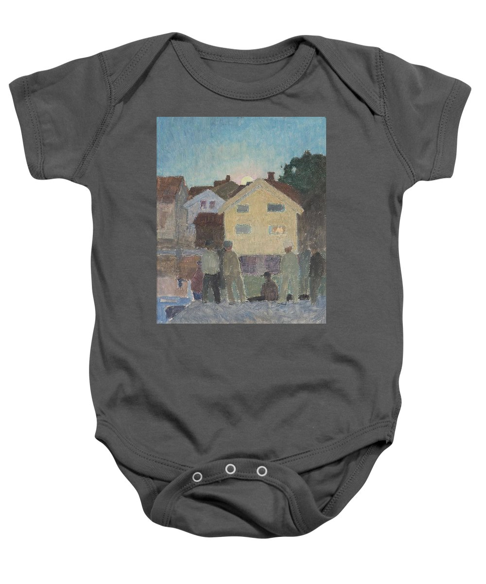 Nature Baby Onesie featuring the painting 10252928_fullsize by Artistic Rifki