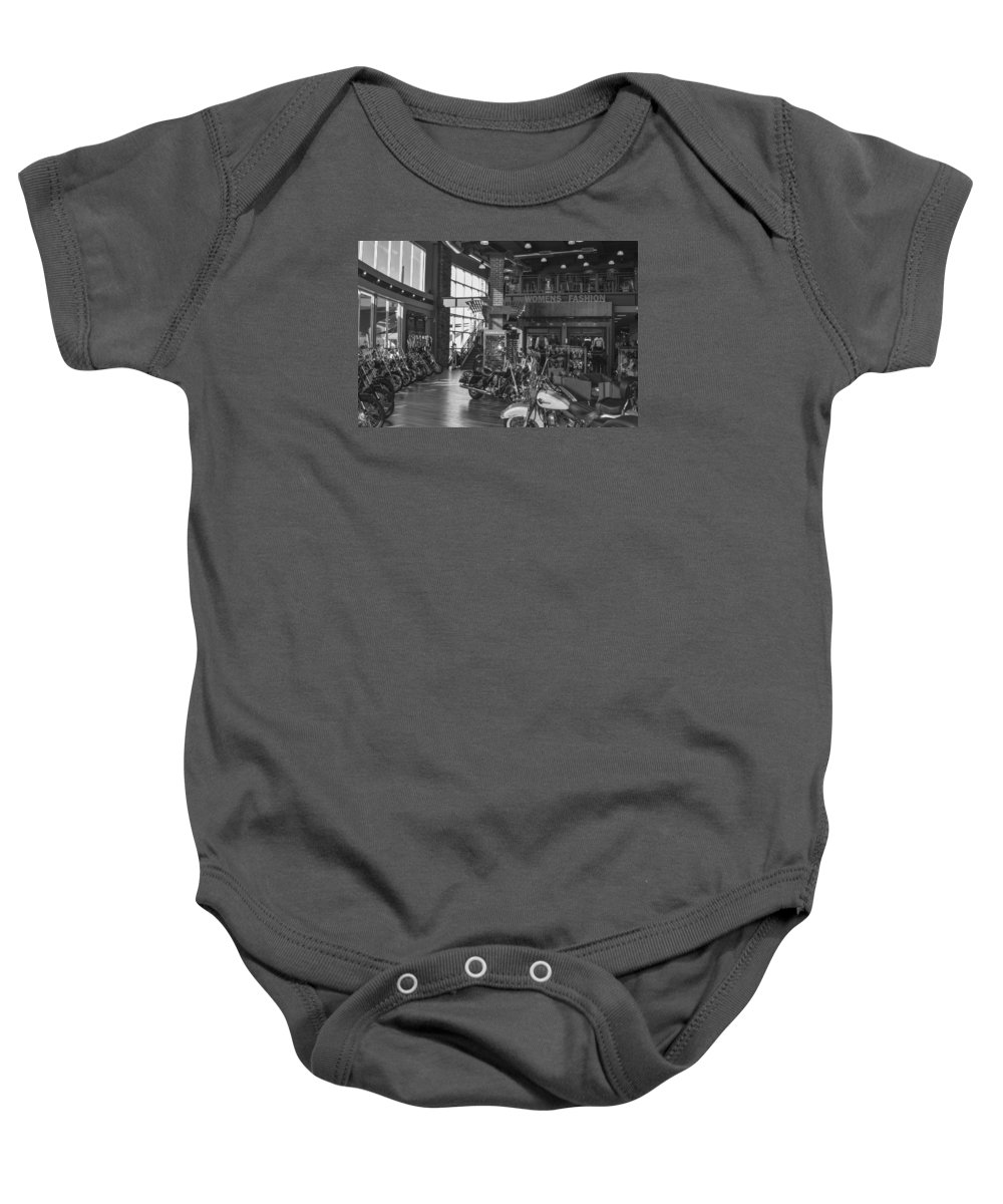 Harley-davidson Motor Cycles Baby Onesie featuring the photograph Screw It, Just Ride by Marit Runyon