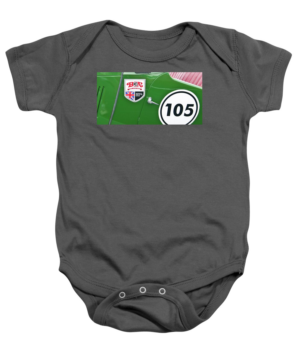 Antique Car Baby Onesie featuring the photograph 105 2039 by Guy Whiteley