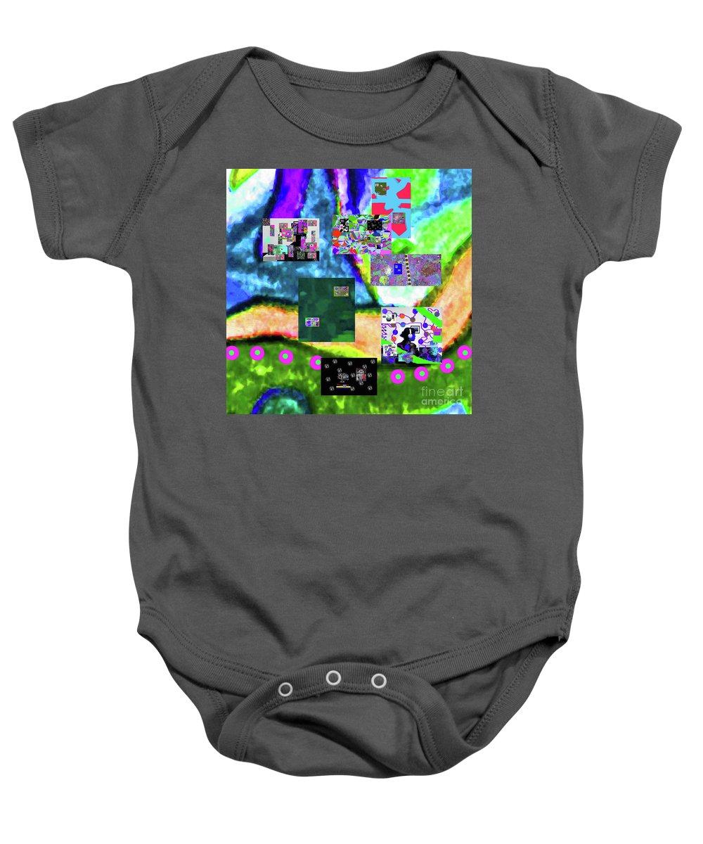 Walter Paul Bebirian Baby Onesie featuring the digital art 11-11-2015abcdefghijklmnopqrtuvwxyzabcdefgh by Walter Paul Bebirian