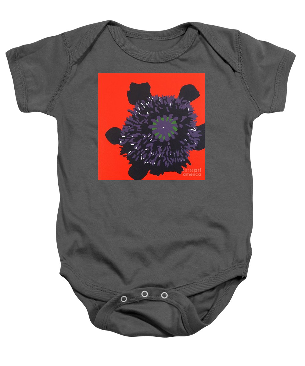 Acrylic Painting On Canvas Baby Onesie featuring the painting 11-11 Lest We Forget by Susan Porter