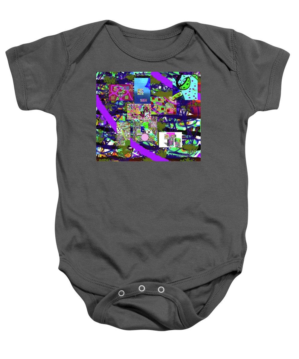 Walter Paul Bebirian Baby Onesie featuring the digital art 11-22-2015cabcdefghijklm by Walter Paul Bebirian