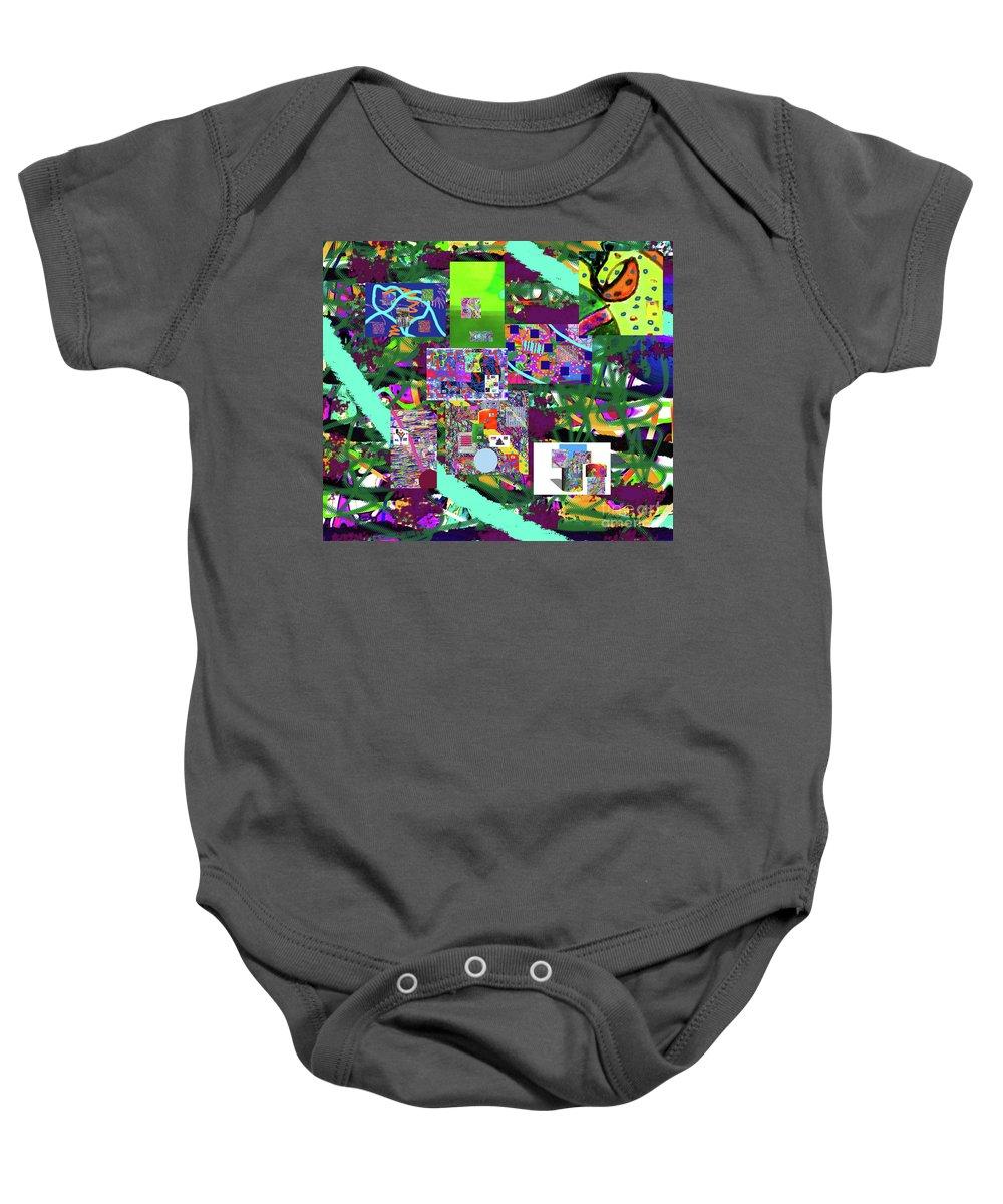 Walter Paul Bebirian Baby Onesie featuring the digital art 11-22-2015cabcdefghijklmnopqrtuvwx by Walter Paul Bebirian