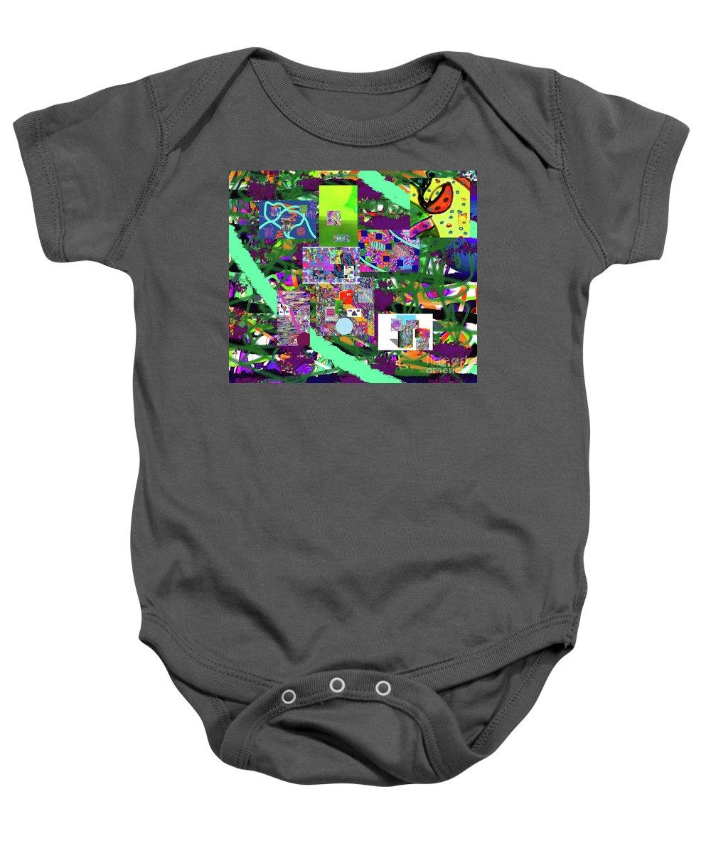 Walter Paul Bebirian Baby Onesie featuring the digital art 11-22-2015cabcdefghijklmnopqrtuvwxy by Walter Paul Bebirian