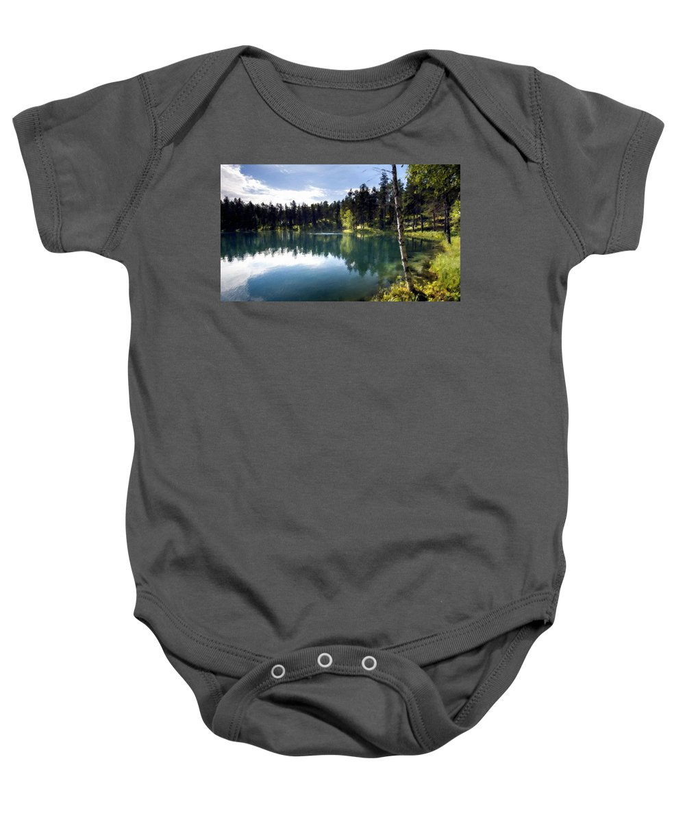 Landscape Baby Onesie featuring the digital art Nature Scene by Usa Map