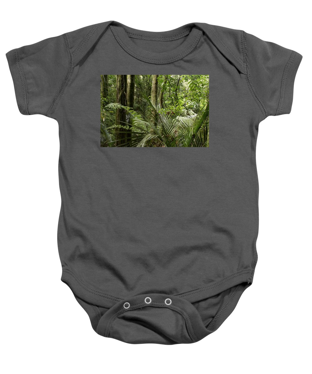 Rain Forest Baby Onesie featuring the photograph Jungle 56 by Les Cunliffe