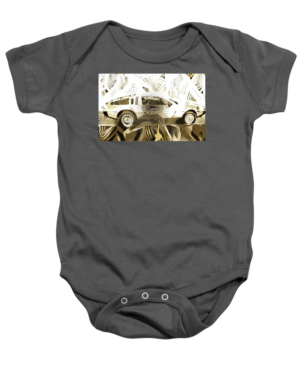Baby Onesie featuring the digital art Cards by John P Earls