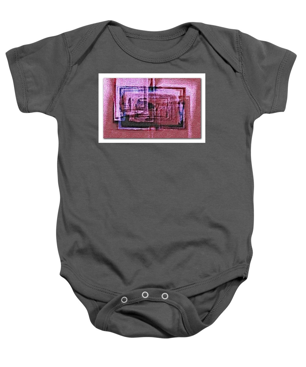 Abstract Baby Onesie featuring the digital art Abstract by Galeria Trompiz