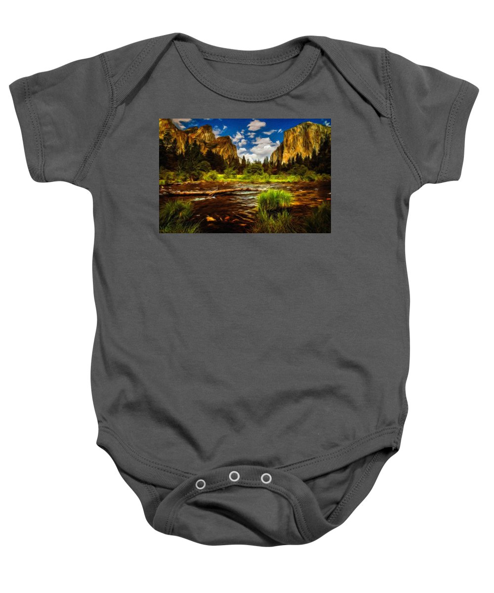 Landscape Baby Onesie featuring the digital art Landscape View by Usa Map