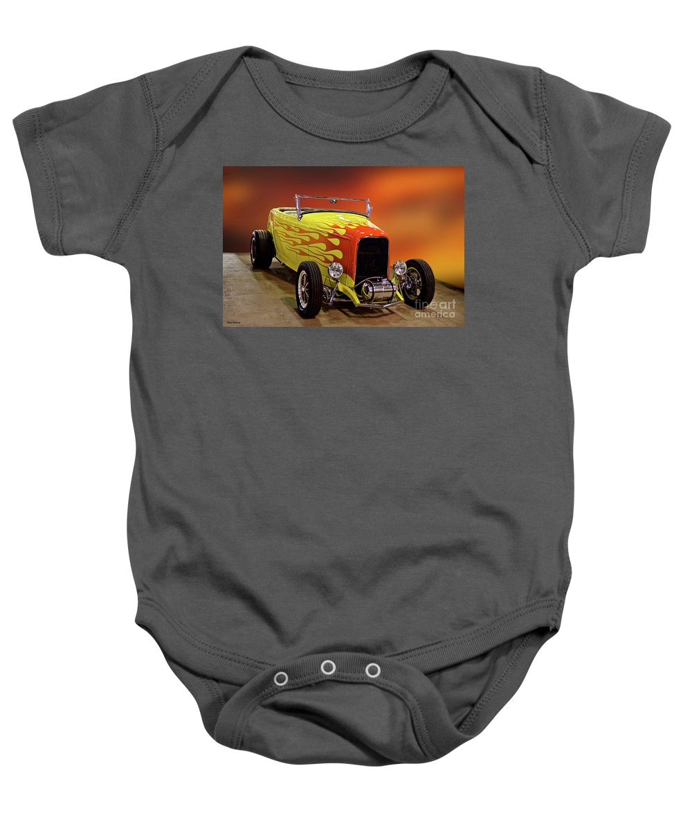 Hot Rod Key Words Baby Onesie featuring the photograph 1932 Ford 'sunset' Studio' Roadster by Dave Koontz