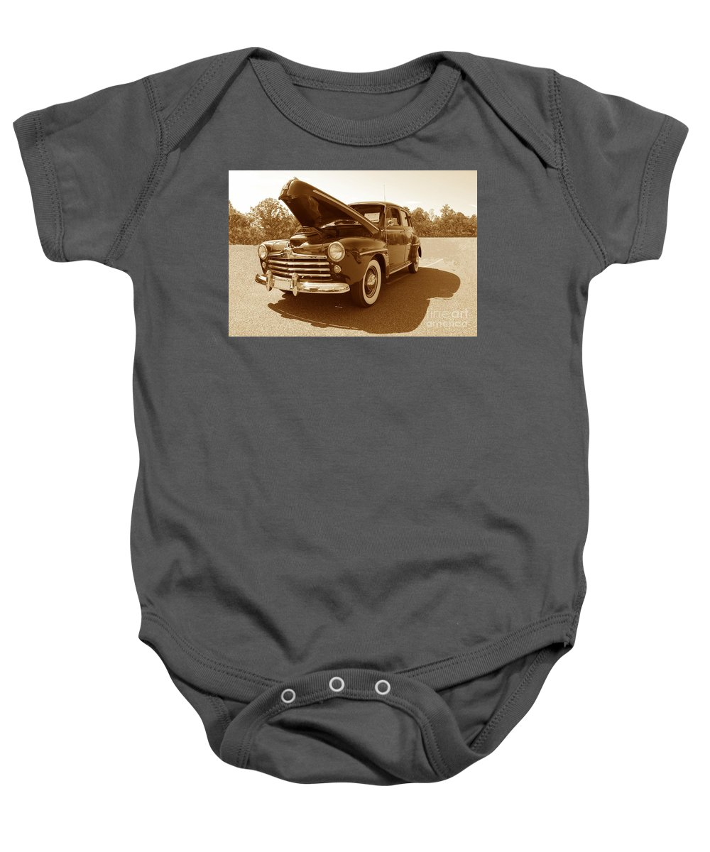 Ford Baby Onesie featuring the photograph 1947 Ford by Eric Liller