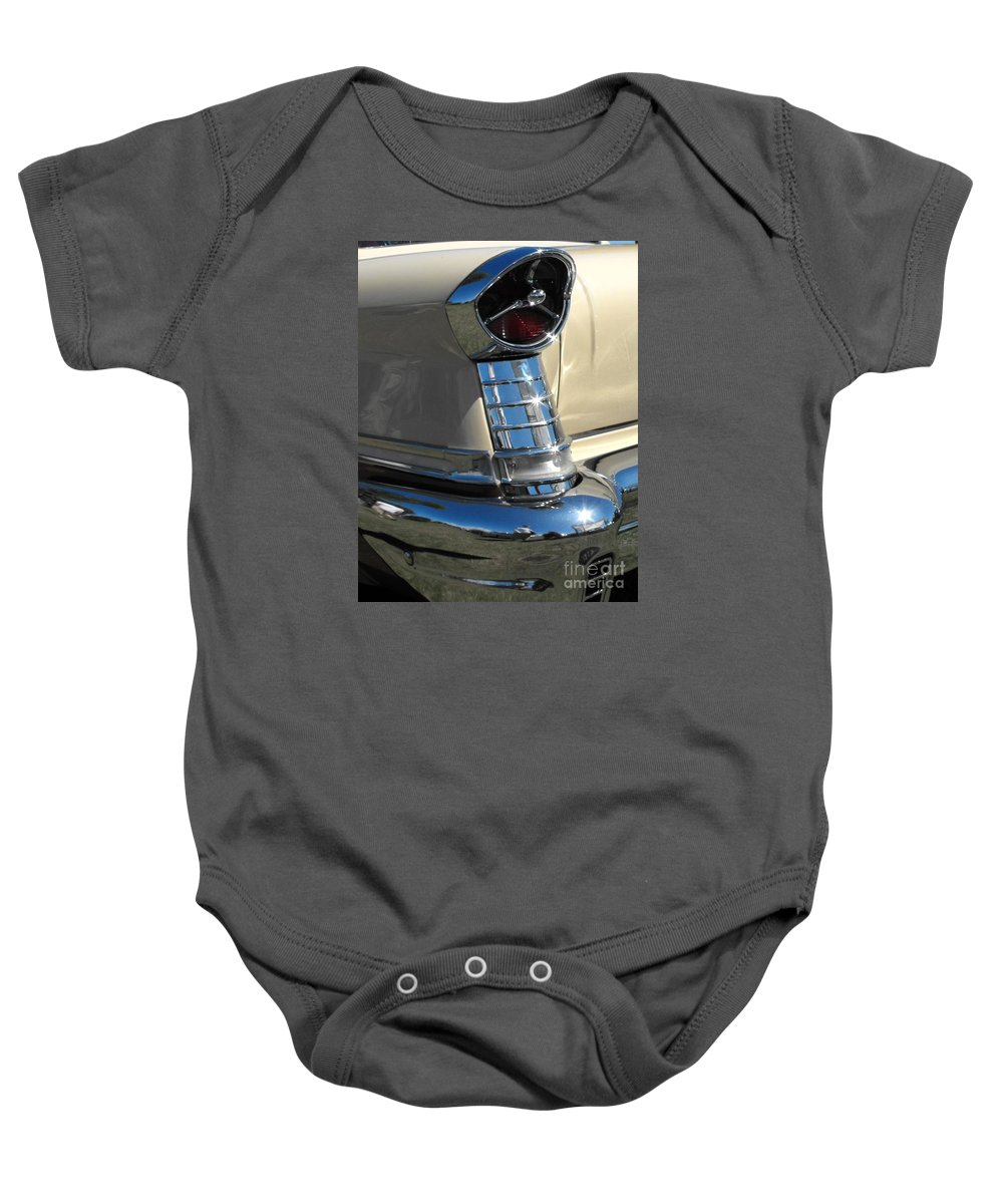Oldsmobile Baby Onesie featuring the photograph 1957 Oldsmobile Super 88 by Neil Zimmerman