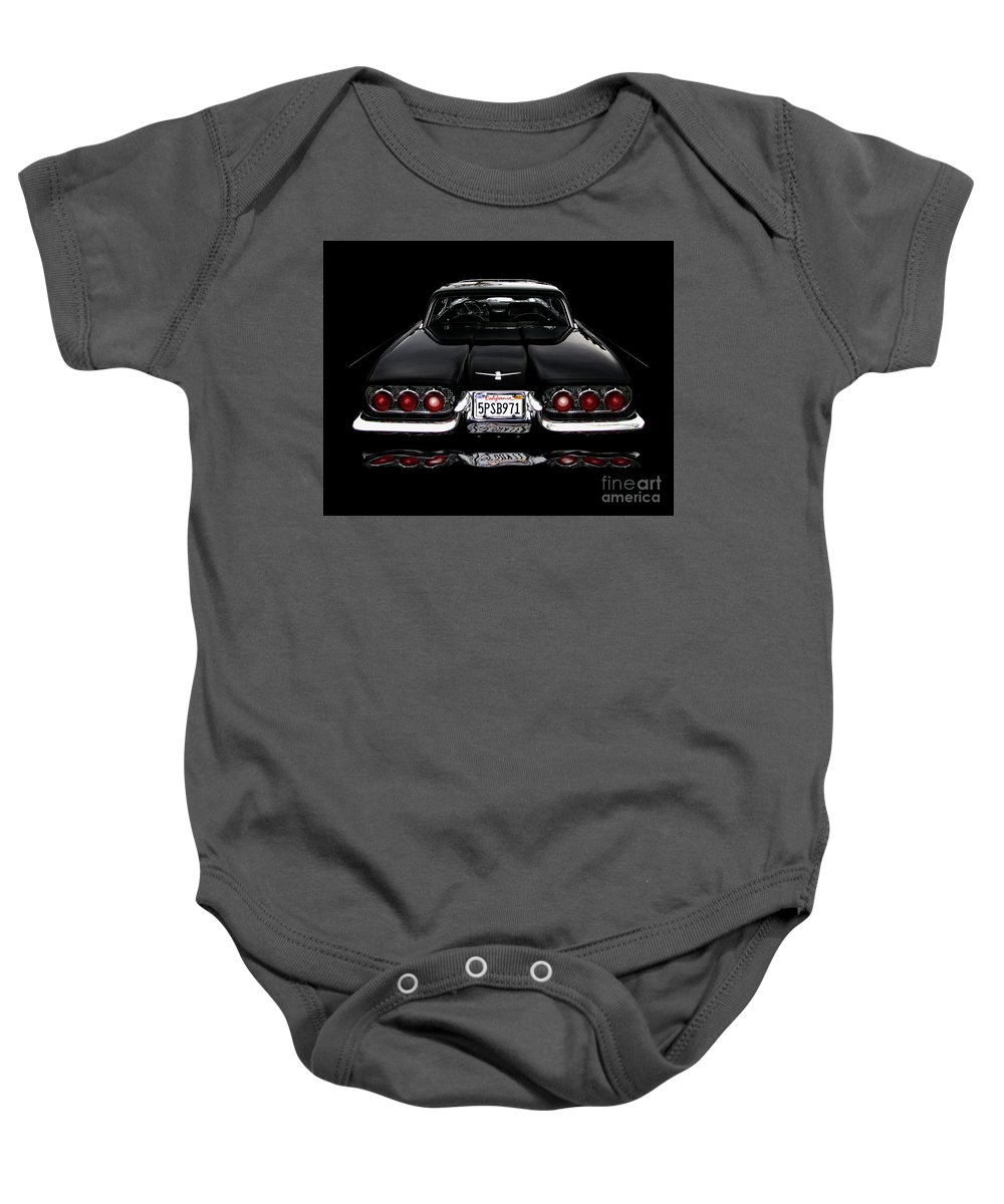 1960 Thunderbird Baby Onesie featuring the photograph 1960 Thunderbird Hardtop Coupe by Peter Piatt