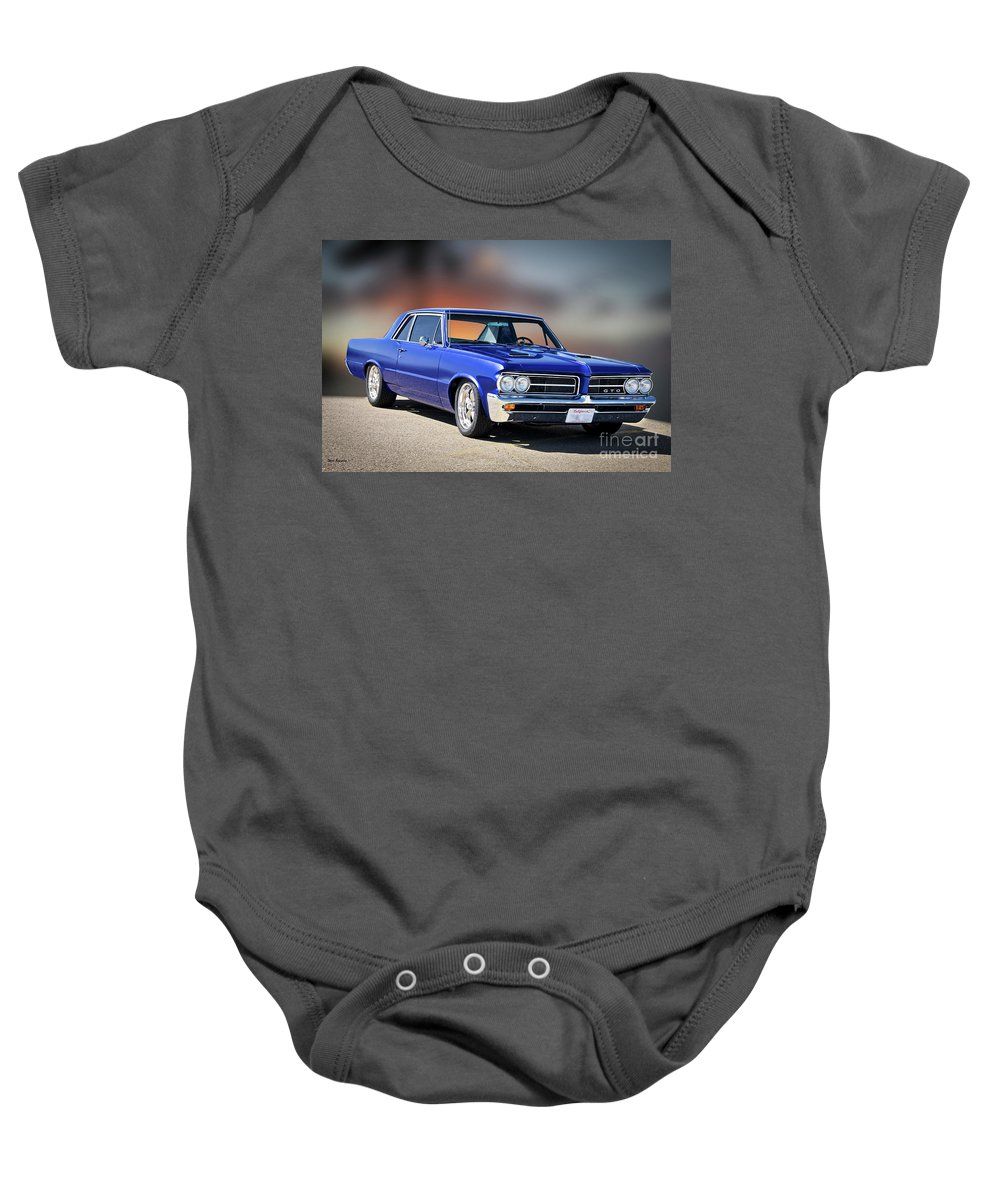 Automobile Baby Onesie featuring the photograph 1964 Pontiac G.t.o. II by Dave Koontz
