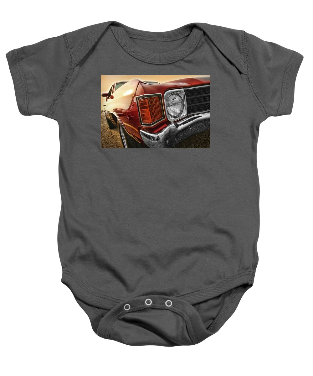 1970 Baby Onesie featuring the photograph 1972 Chevrolet Chevelle Ss by Gordon Dean II
