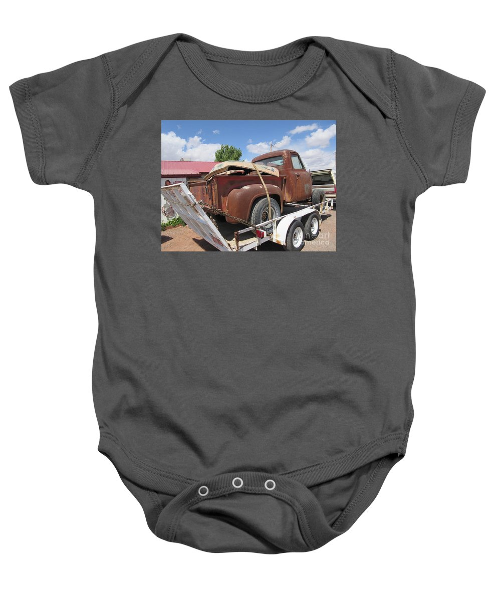 1953 Baby Onesie featuring the photograph 1953 Ford F-100 Truck by Frederick Holiday