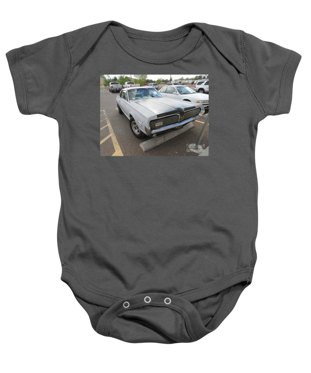 Mercury Baby Onesie featuring the photograph 1968 Mercury Cougar Xr7 by Frederick Holiday