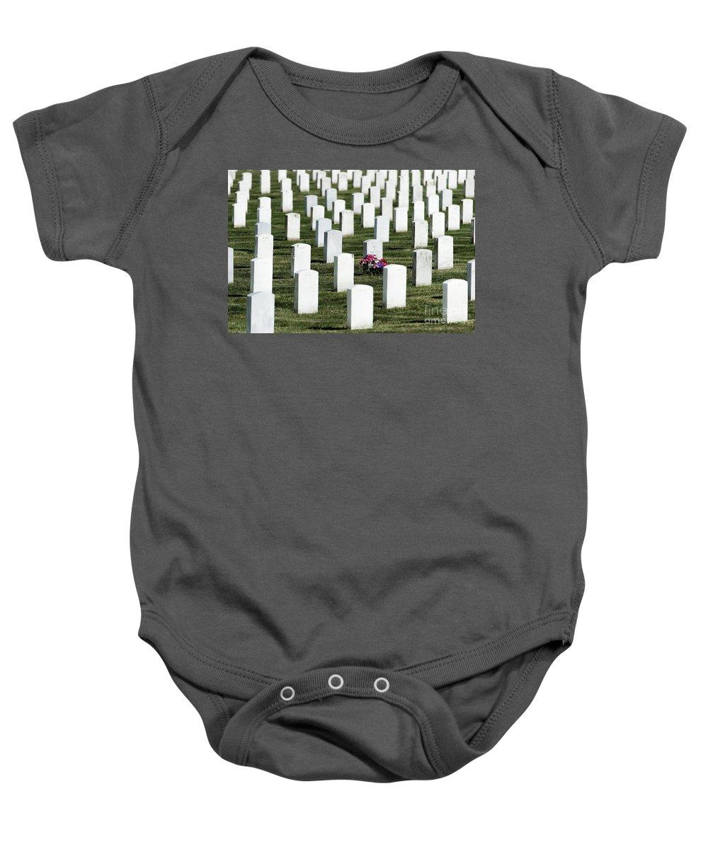 Arlington Cemetery Baby Onesie featuring the photograph Arlington Cemetery by John Greim